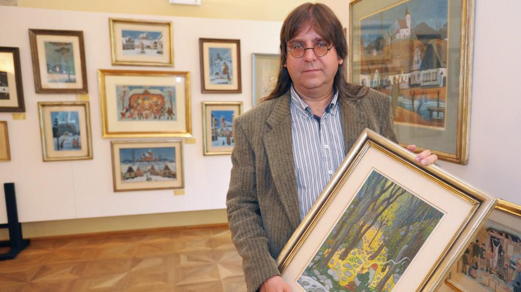 Na snímku je malířův vnuk Josef Lada
