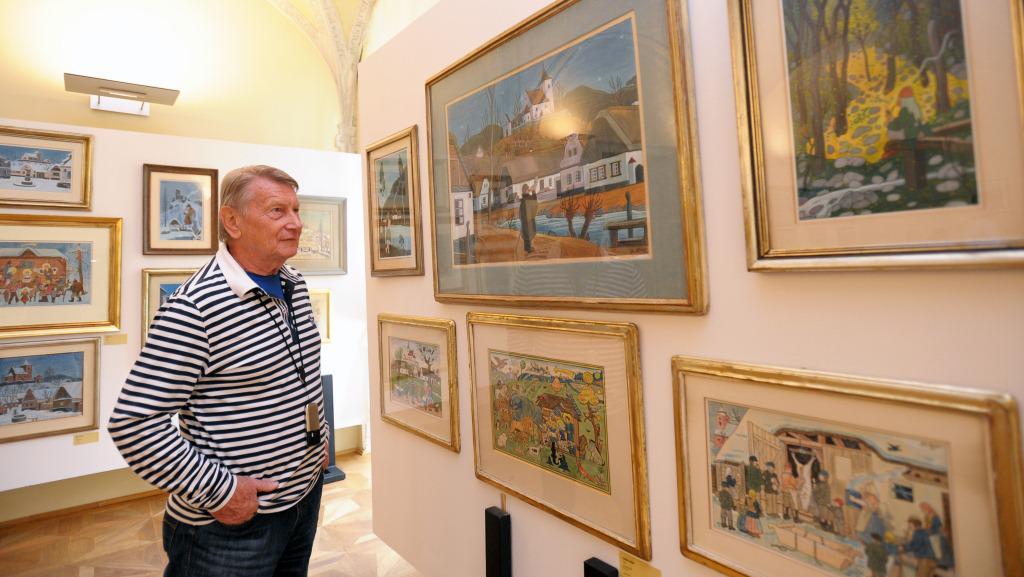 Zahájení výstavy se zúčastnil také herec Josef Dvořák