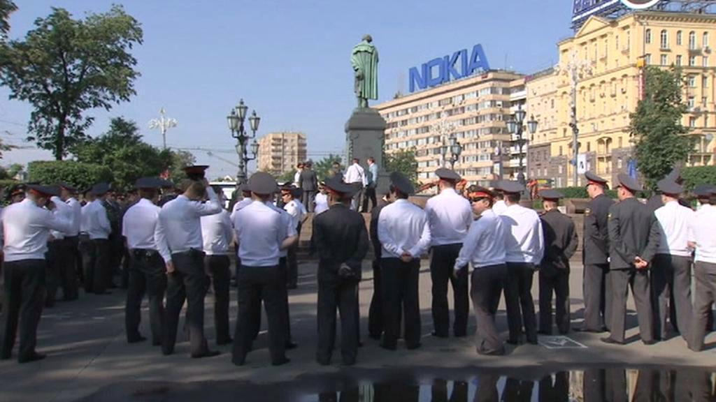 V Moskvě hlídkují tisíce policistů