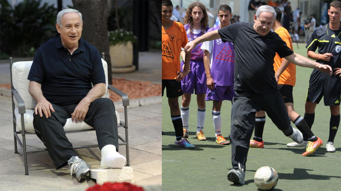 Benjamin Netanjahu se zranil při fotbale