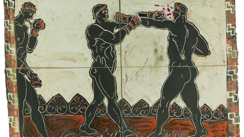 Z výstavy Vzpomínky na Olympii – Ekecheiriá / Ivan Komárek