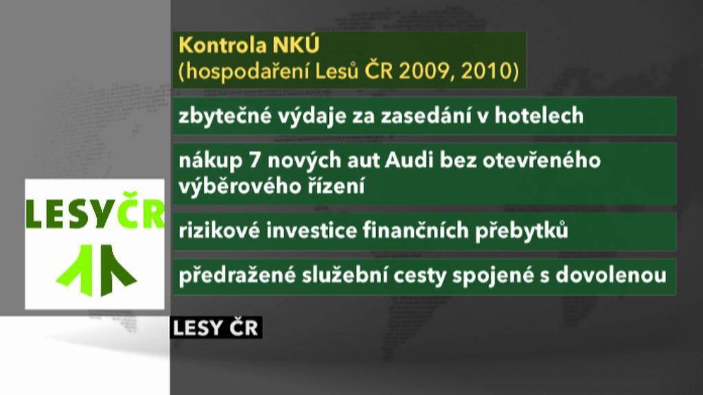 Nedostatky v hospodaření Lesů ČR