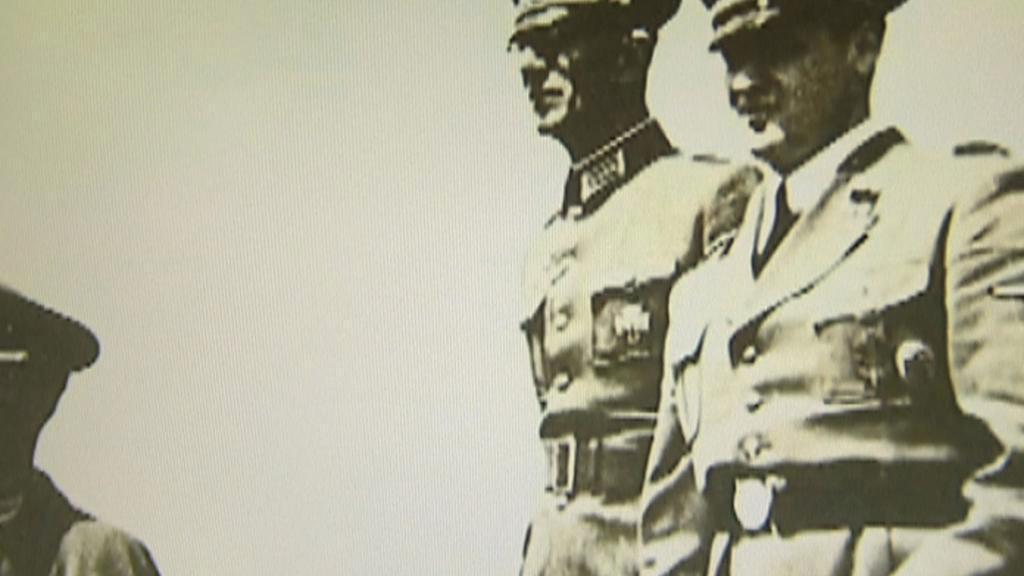 Nacističtí důstojníci dohlížející na vyhlazení Lidic