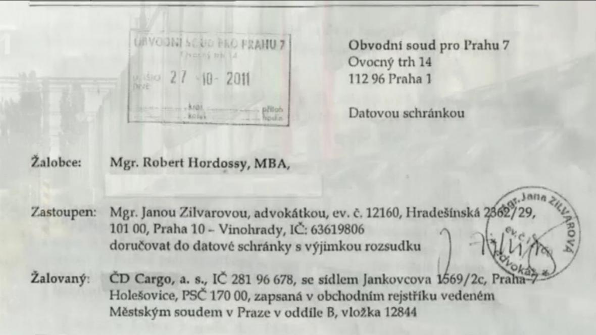 Žaloba Roberta Hordossyho