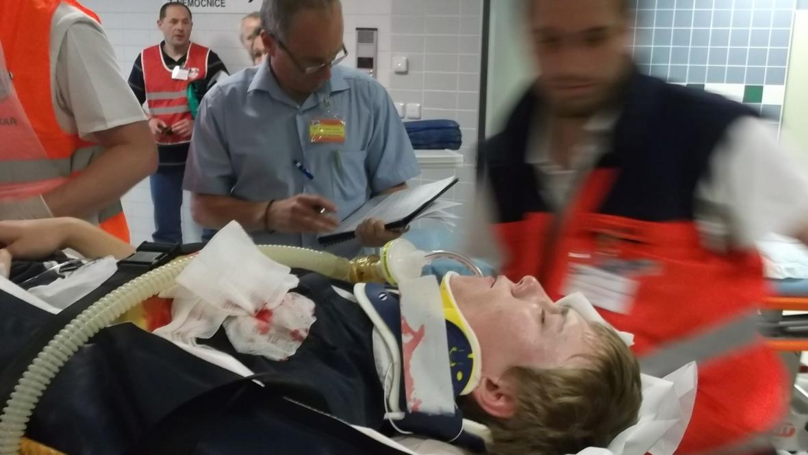 V nemocnici nacvičovali katastrofu