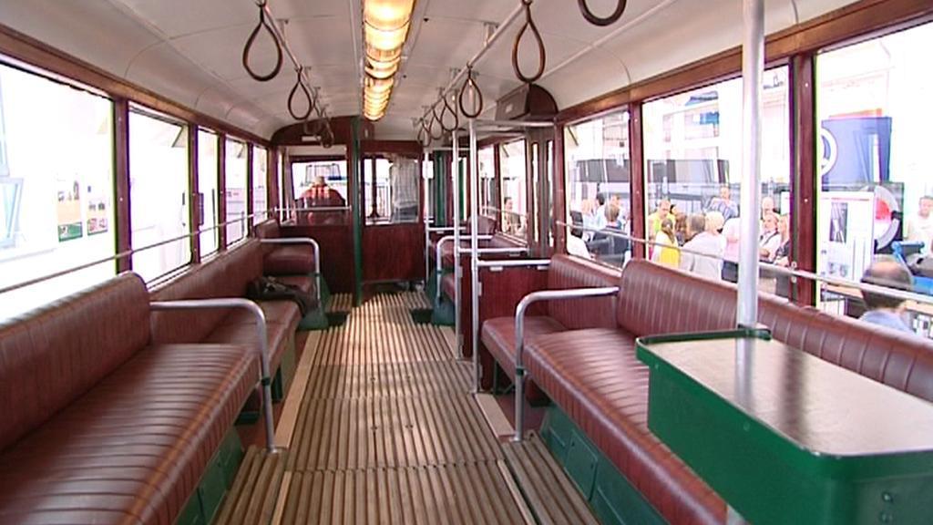 Interiér trolejbusu