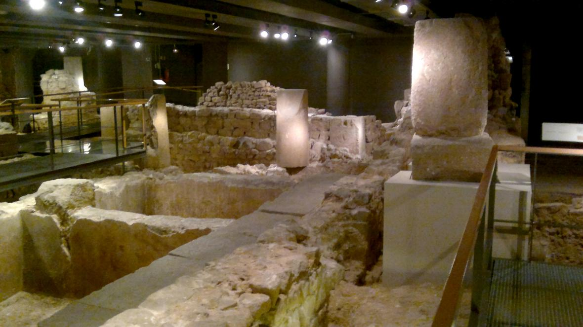 Vykopávky v barcelonském muzeum města