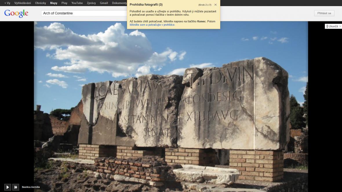 3D fotografická prohlídka Google