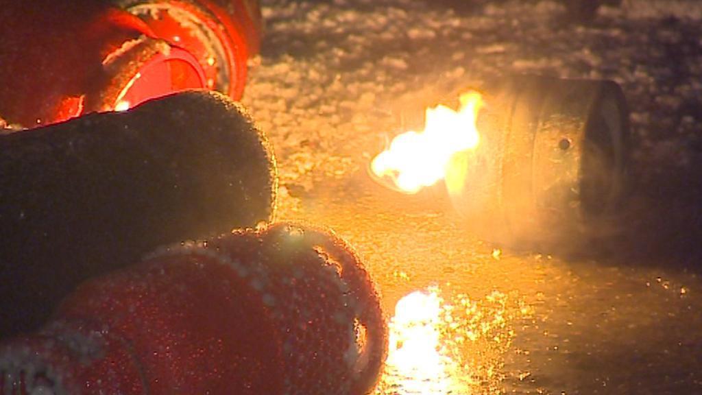 Požár plnírny plynu v Branicích na Písecku