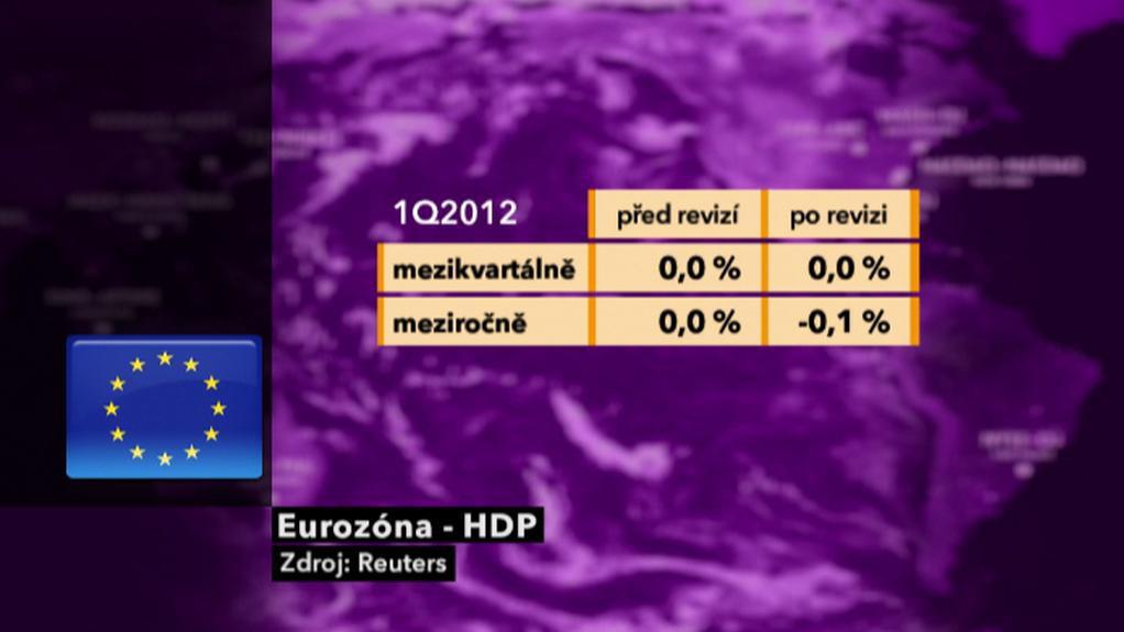Hrubý domácí produkt eurozóny v 1. čtvrtletí 2012