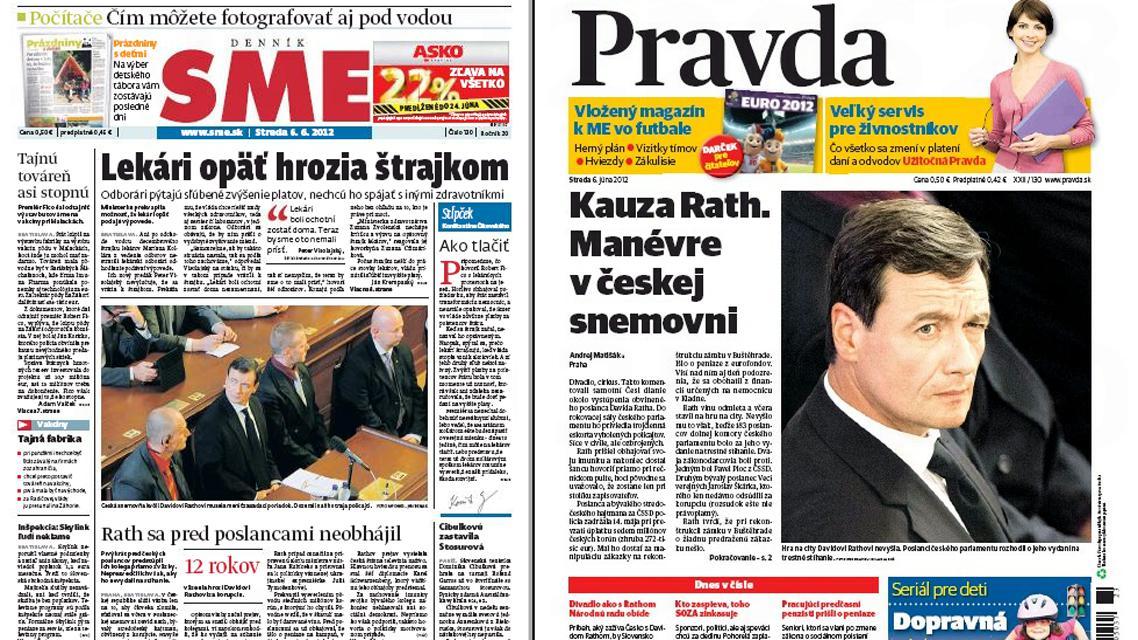 Slovenský tisk o Rathově projevu