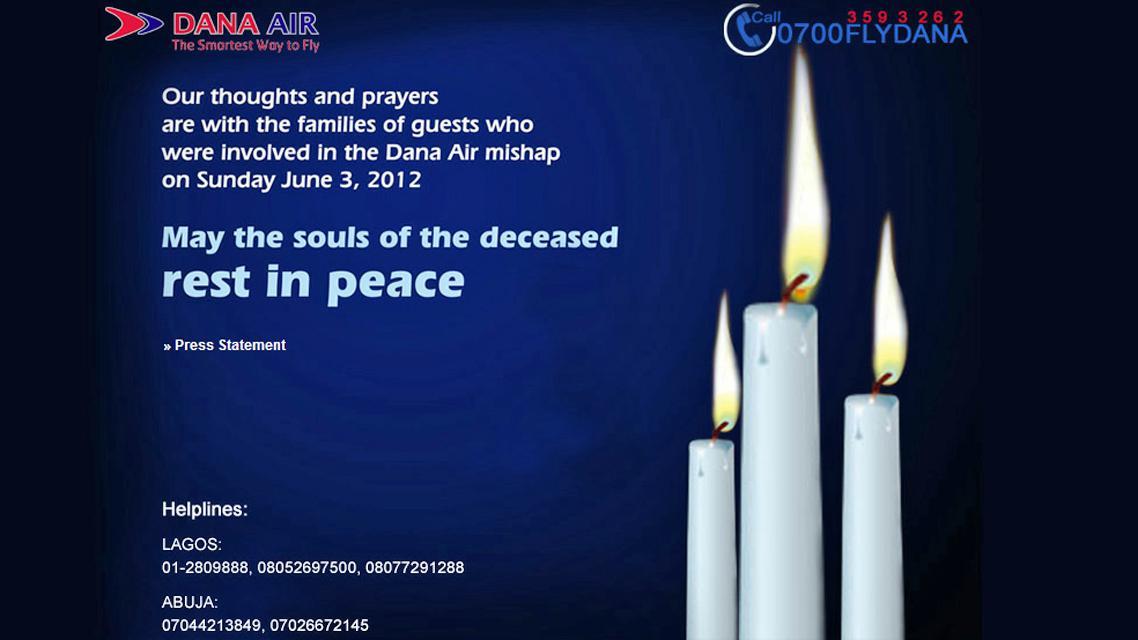 Společnost Dana Air vyslovila soustrast pozůstalým po obětech neštěstí