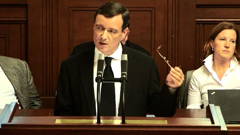 David Rath při projevu v Poslanecké sněmovně