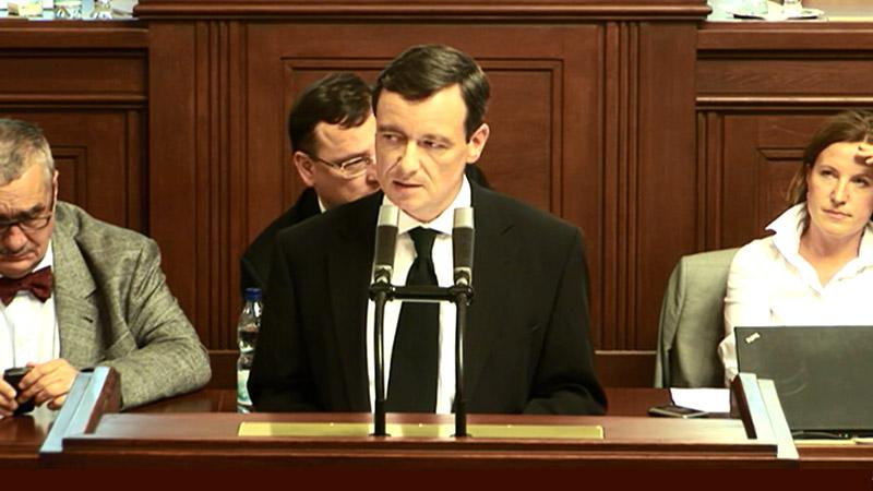 Projev Davida Ratha v PS PČR