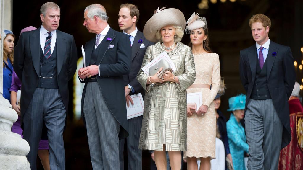 Oslavy diamantového jubilea - královská rodina