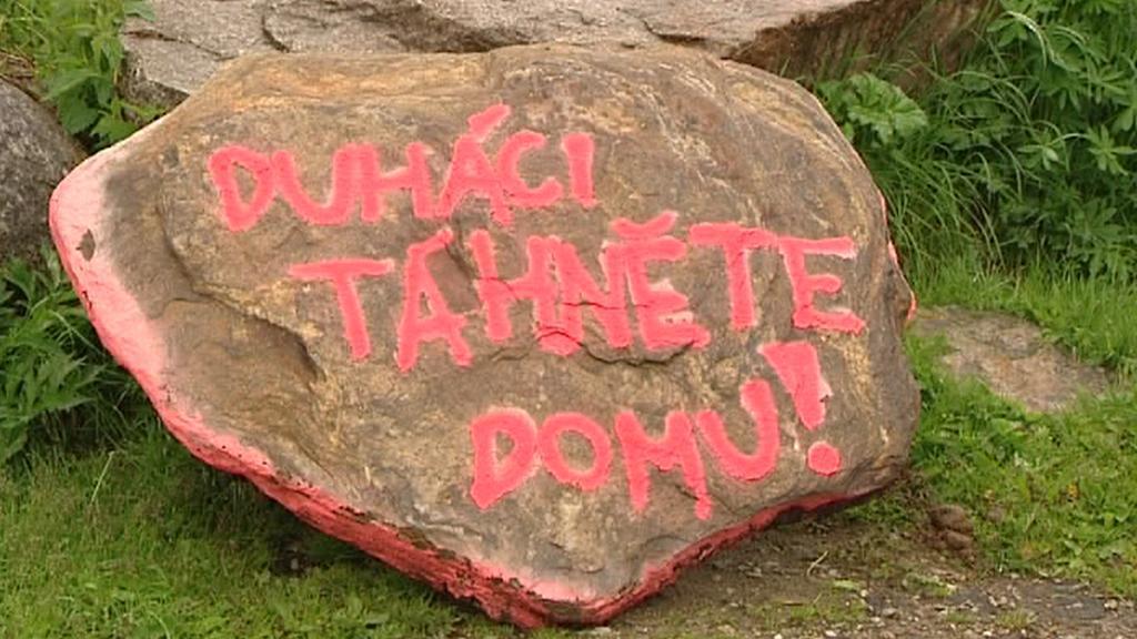 Protesty proti ekologům na Šumavě