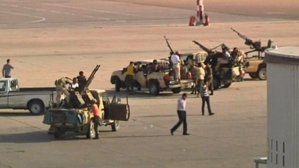 Obsazené letiště v Tripolisu