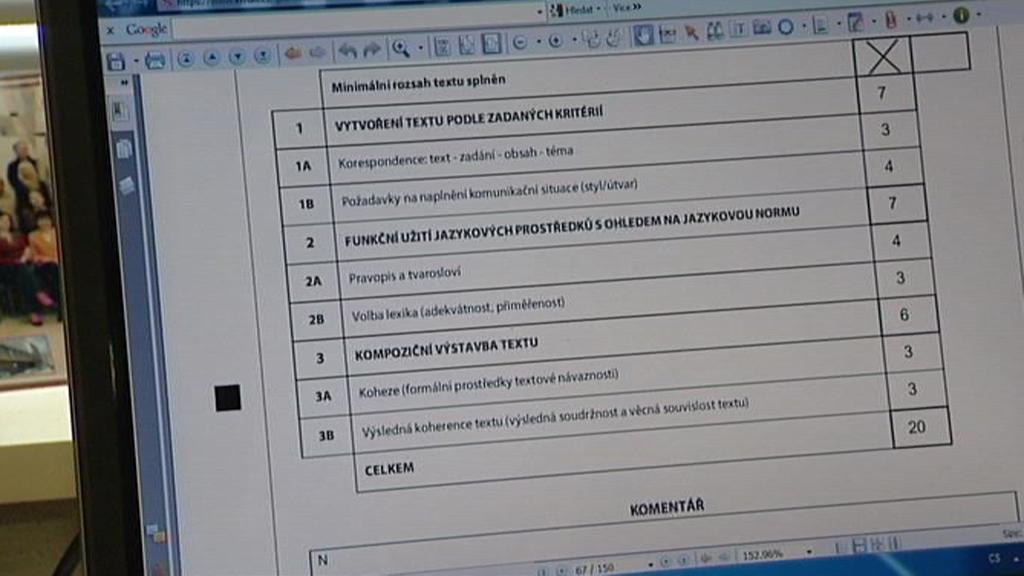 Záznam o hodnocení maturitní písemné práce