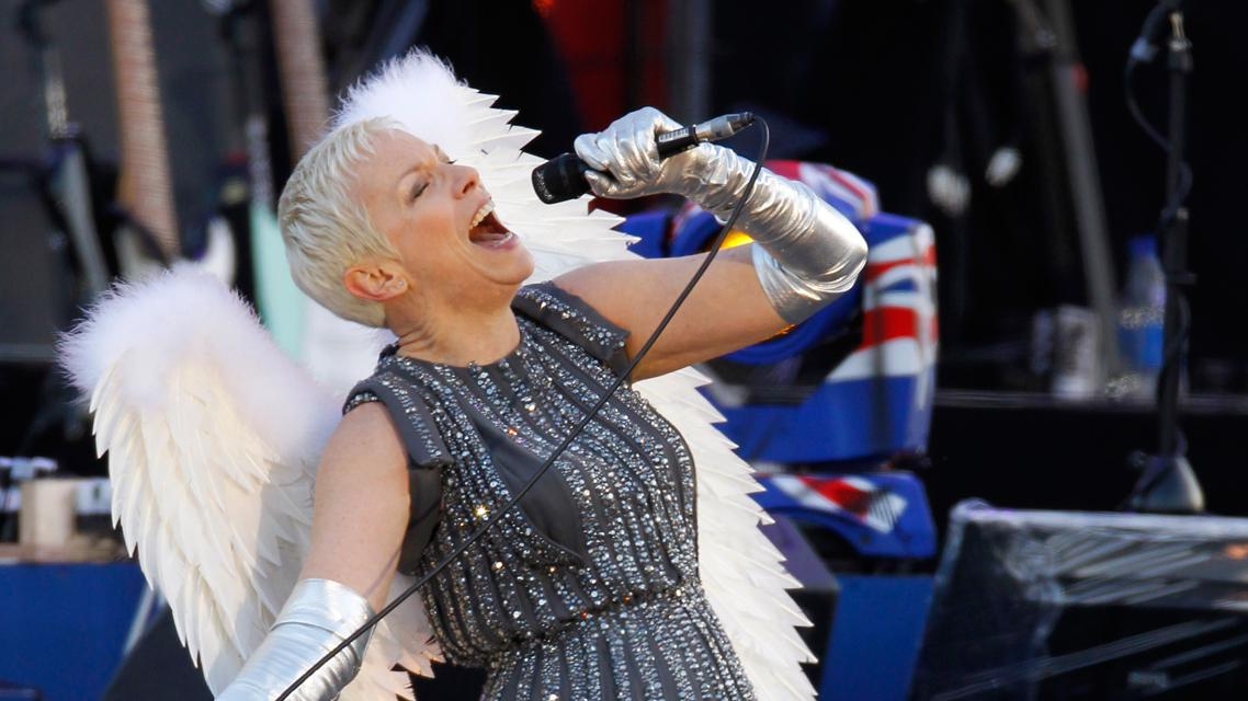 Annie Lennoxová na koncertu na počest Alžběty II.