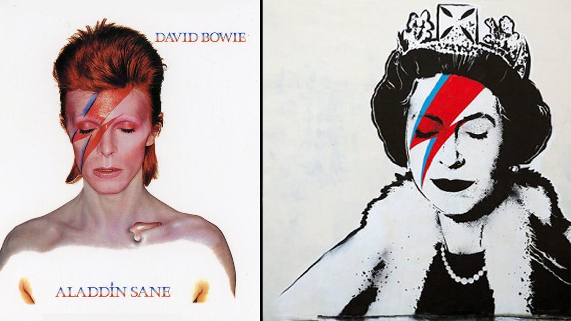 Banksyho Alžběta - a Ziggy Stardust jako inspirace