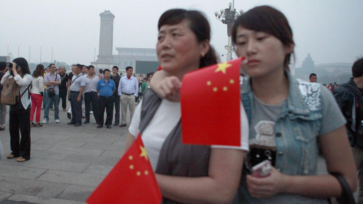 Turisté na náměstí Tchien-an-men