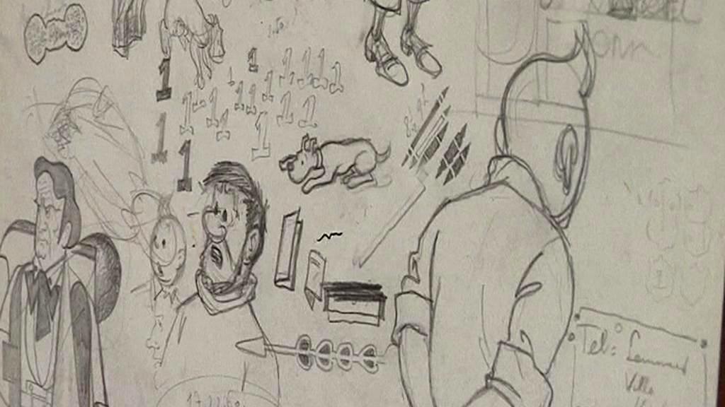 Hergého náčrty