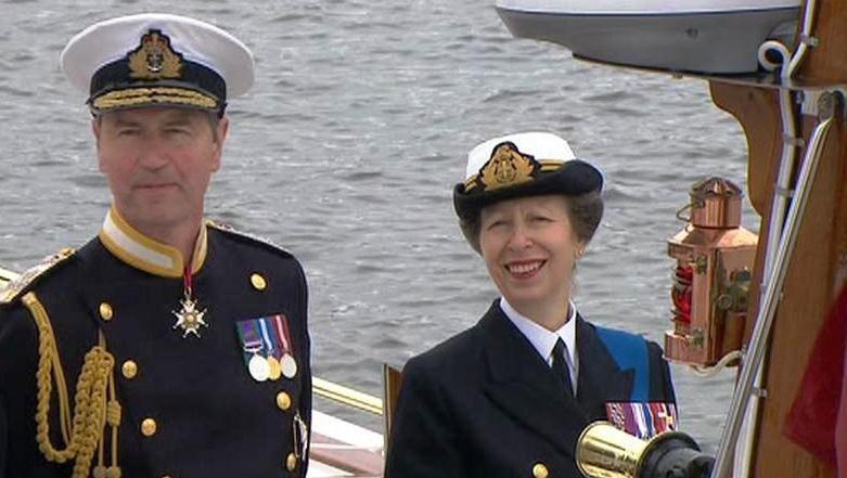 Princezna Anna se svým mužem Timem Laurencem