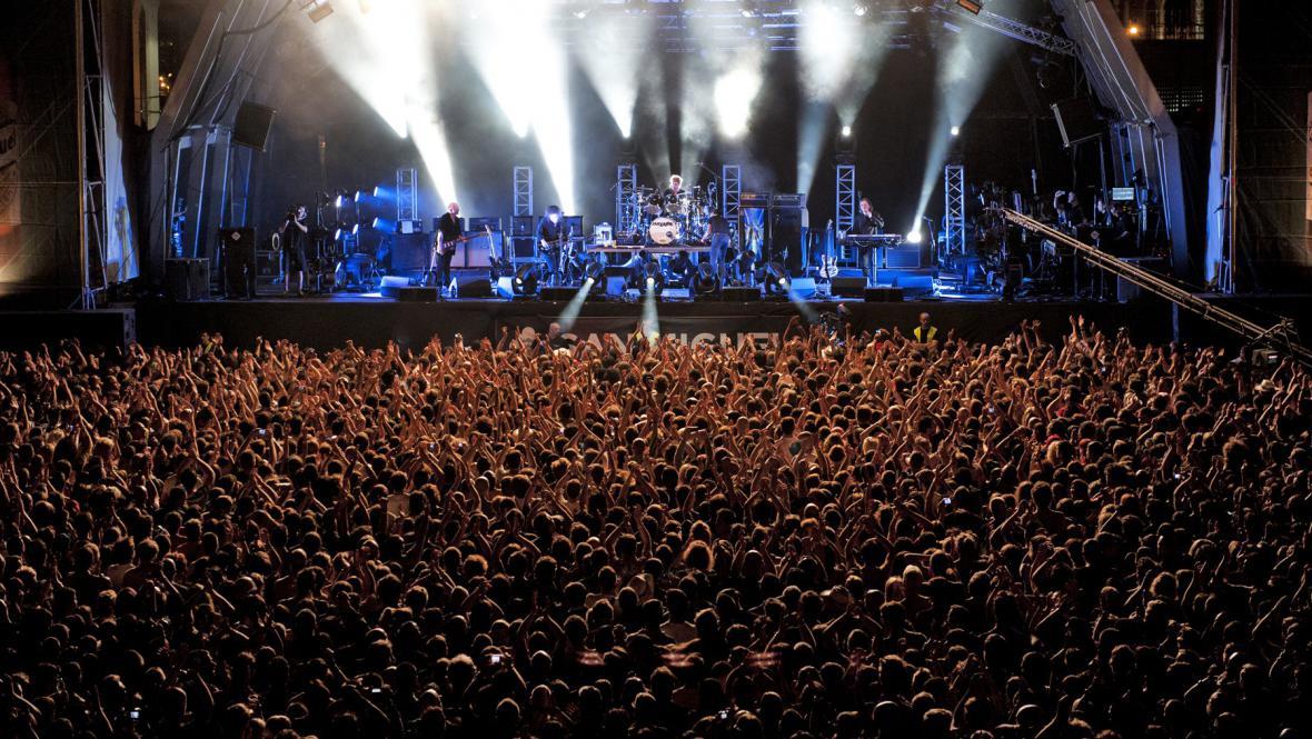 The Cure na hlavní scéně festivalu Primavera Sound