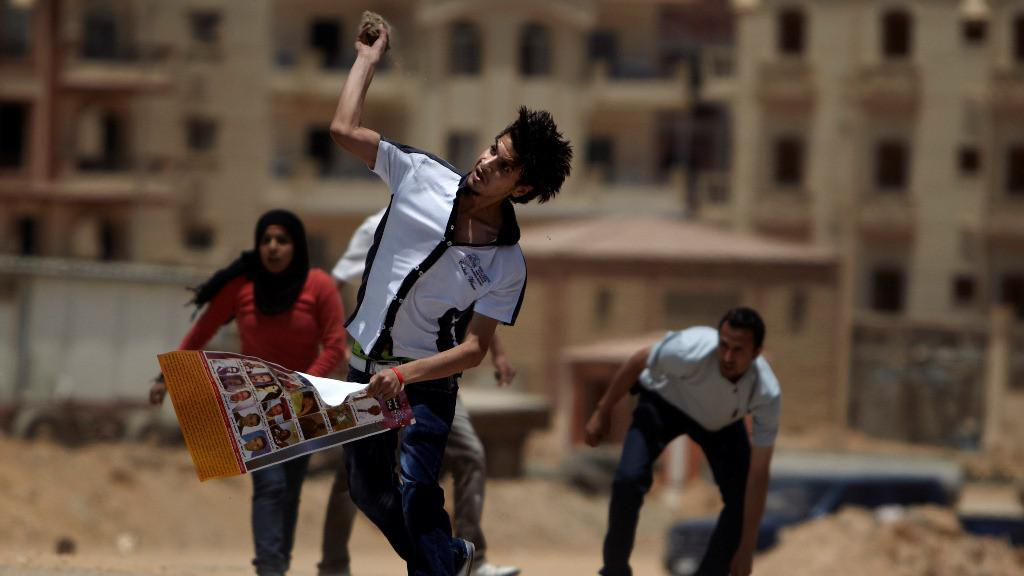 Protest proti rozsudku nad Mubarakem