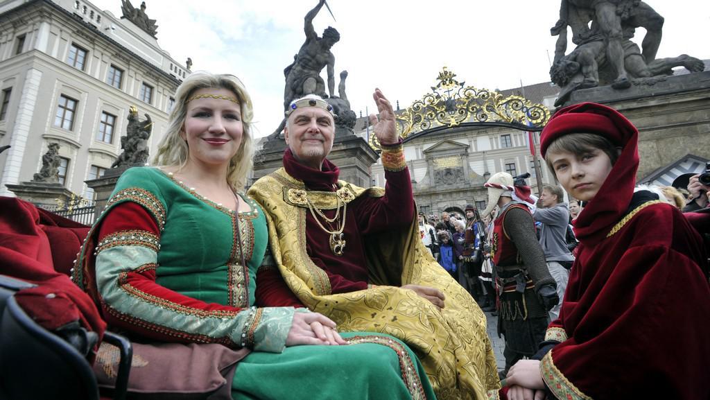 Karel IV. a jeho choť Eliška Pomořanská