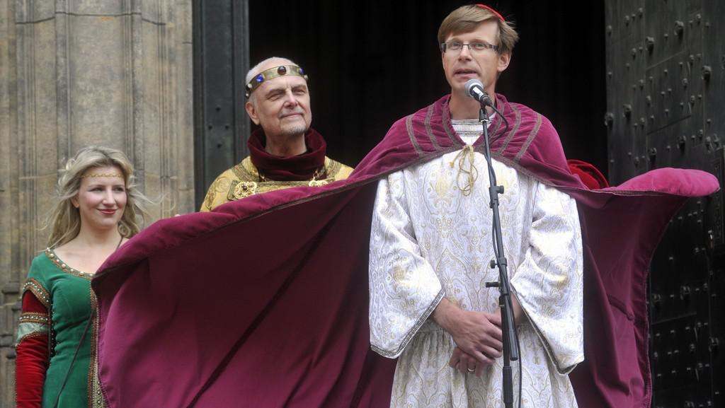 Z tradičního průvodu Karla IV.