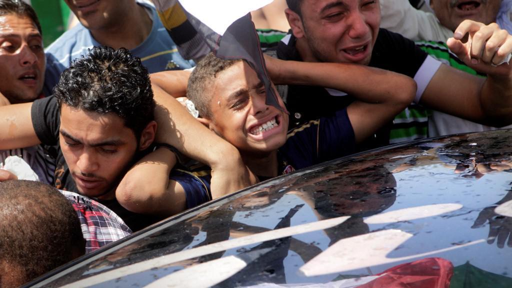 Egypťané po vyhlášení rozsudku nad Mubarakem