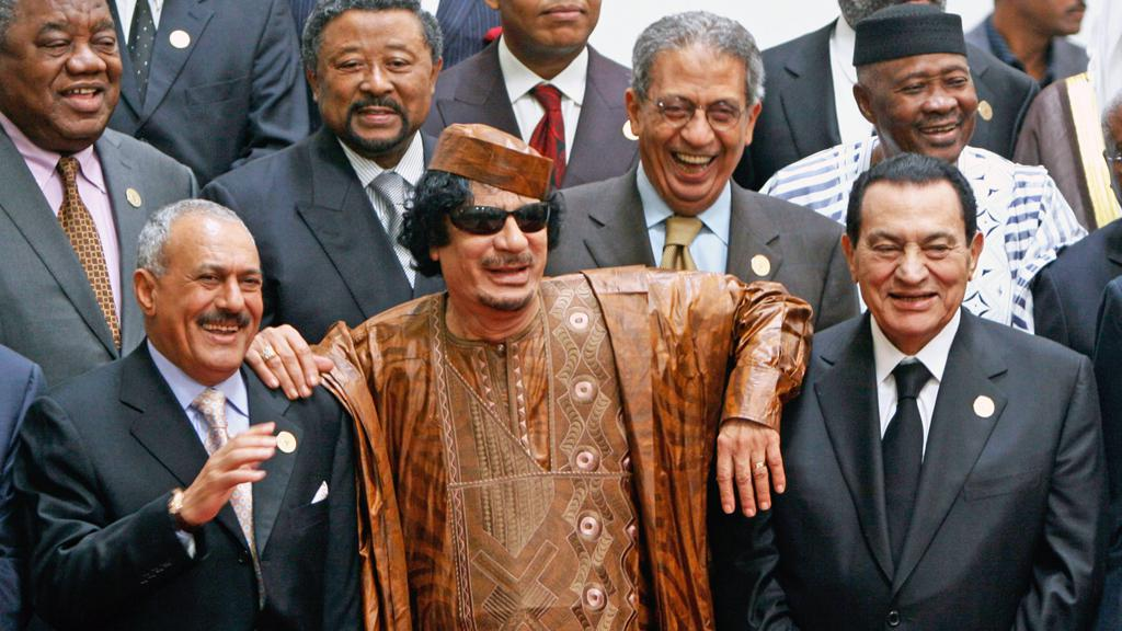 Alí Abdalláh Sálih, Muammar Kaddáfí a Husní Mubarak