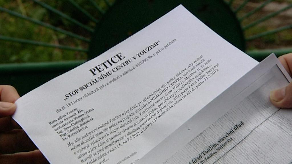 Petice proti toužimskému sociálnímu centru
