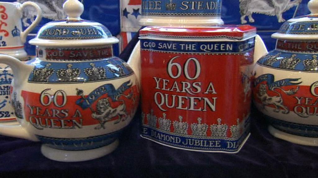 Produkty k oslavě 60. výročí vlády královny Alžběty II.