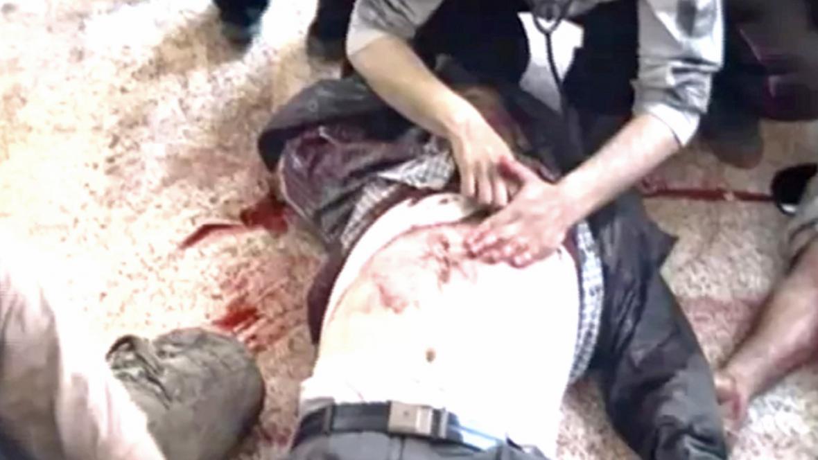 Záběry 13 mrtvých syrských dělníků