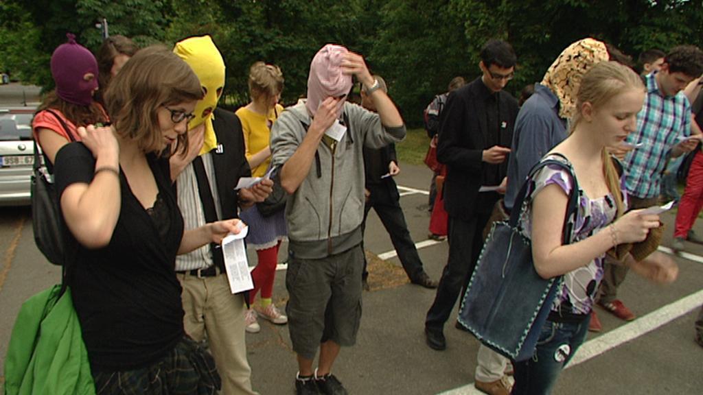 Protest proti zatčení skupiny Pussy Riot