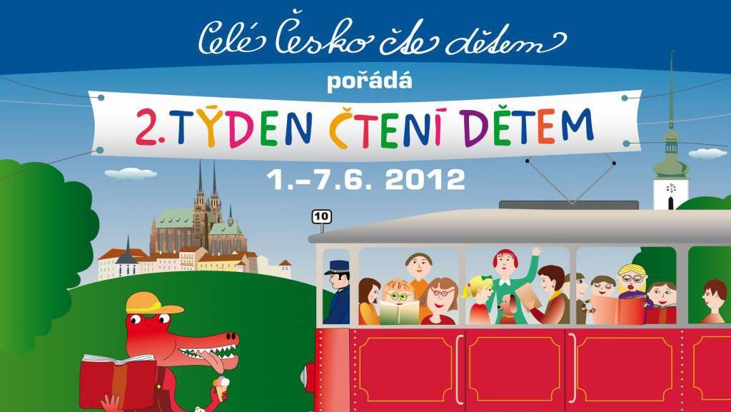 Plakát kampaně Celé Česko čte dětem