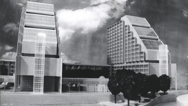 Model Slunečních domů na hlavním náměstí Jihozápadního Města