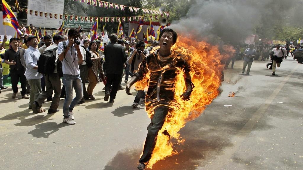 Upálený Tibeťan