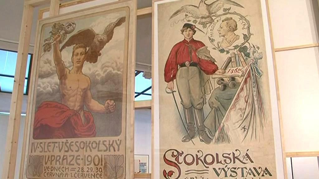 Z výstavy Slet sokolských plakátů