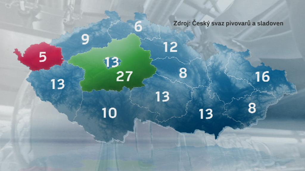 Počet minipivovarů v Česku