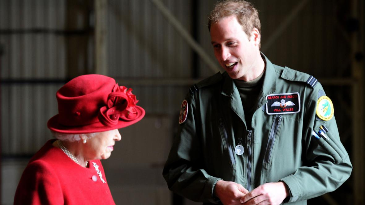 Alžběta II. a její vnuk princ William