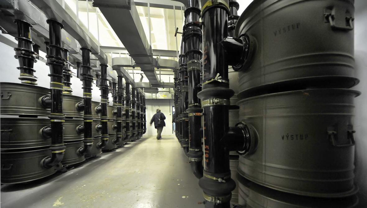 Kobka se vzduchovými filtry v bunkru S-7 v Třešti