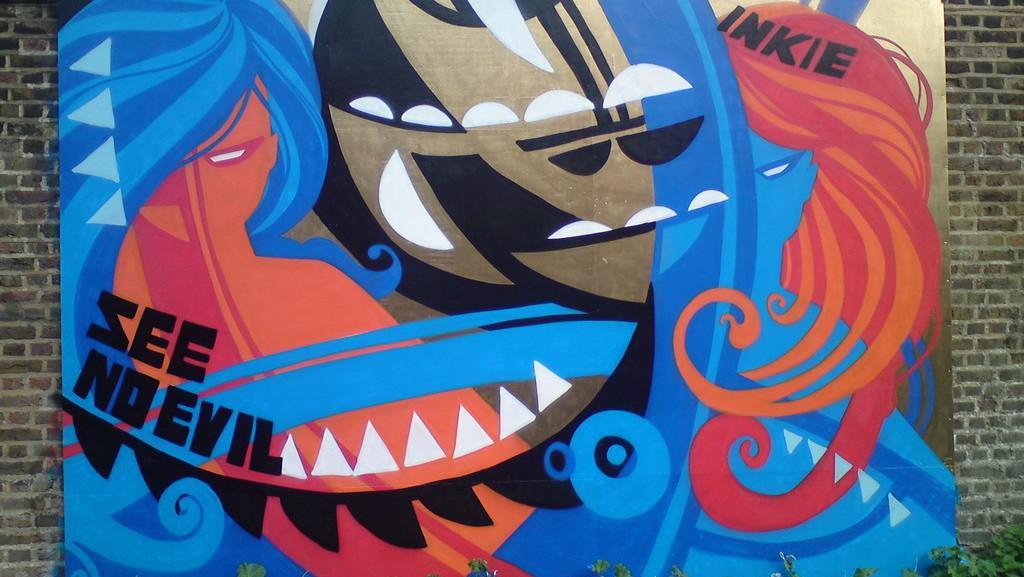 Graffiti v londýnské čtvrti Islington