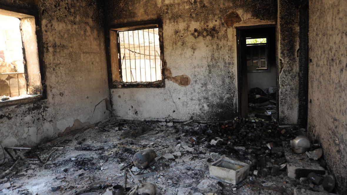 Následky masakru v Húlá