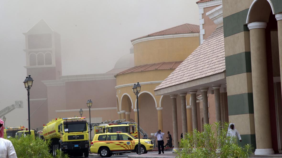 Požár ve Villagio Mall v Dauhá
