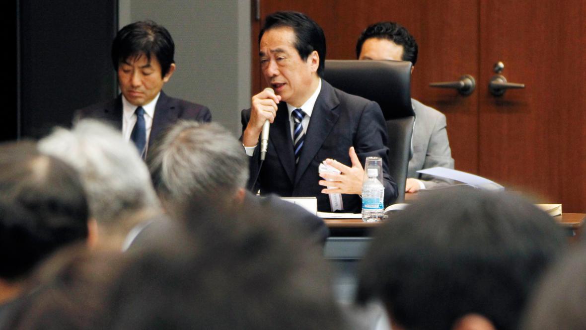 Naoto Kan před vyšetřovací skupinou