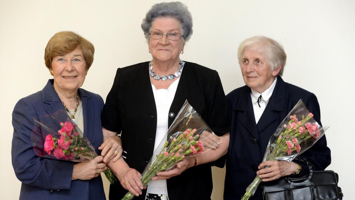 (zleva) Jana Kánská, Ludmila Hermanová a Sylva Jarošová