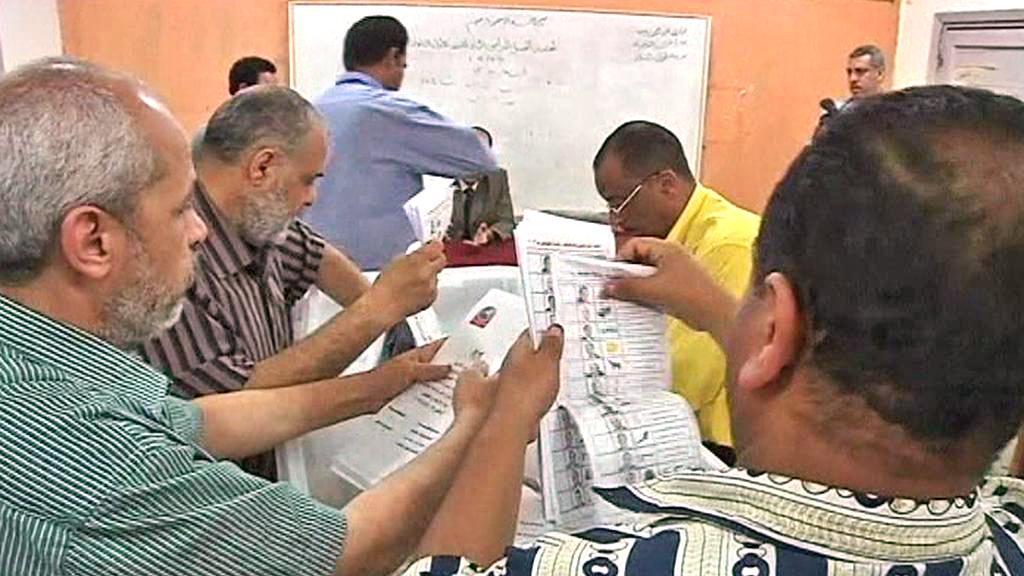 Sčítání hlasů po egyptských prezidentských volbách